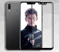 Защитное стекло Полного Покрытия для Huawei Honor Play (с клеем по ВСЕЙ Поверхности)