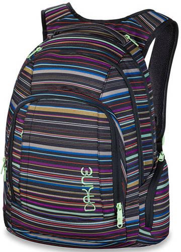 Женский городской рюкзак в полоску Dakine Frankie 26L Taos 610934861006 черный