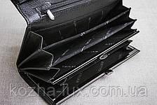 Кошелек женский кожаный классический чёрный B-826, натуральная кожа, фото 3
