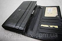 Кошелек классический чёрный B-826, натуральная кожа , фото 3