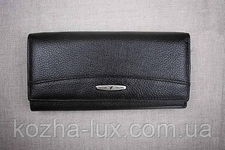 Кошелек женский кожаный классический чёрный B-826, натуральная кожа, фото 2