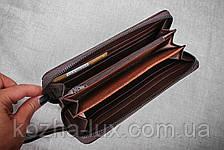 Кошелек на молнии Puce-9026, натуральная кожа, фото 3