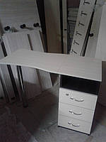 Маникюрный стол Стандарт без полок раскладной