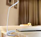 Настольная лампа-прищепка Remax Milk LED на аккумуляторе.  Светодиодная сенсорная Led лампа, фото 2