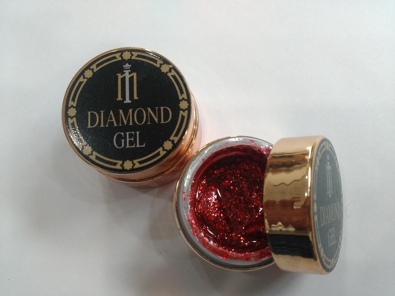 Глиттер-гель DIAMOND, 8G MILANO 001