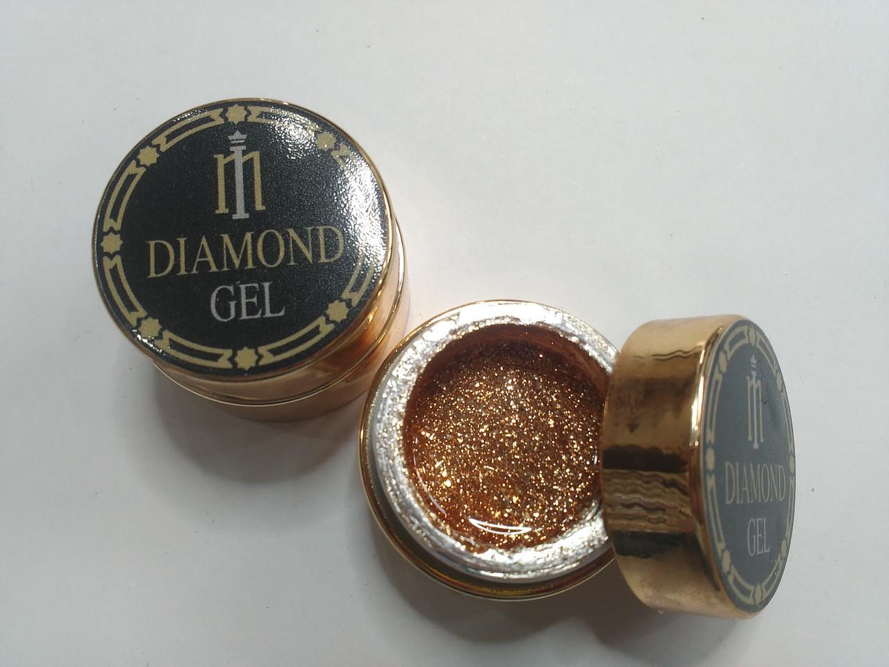 Глиттер-гель DIAMOND, 8G MILANO 009