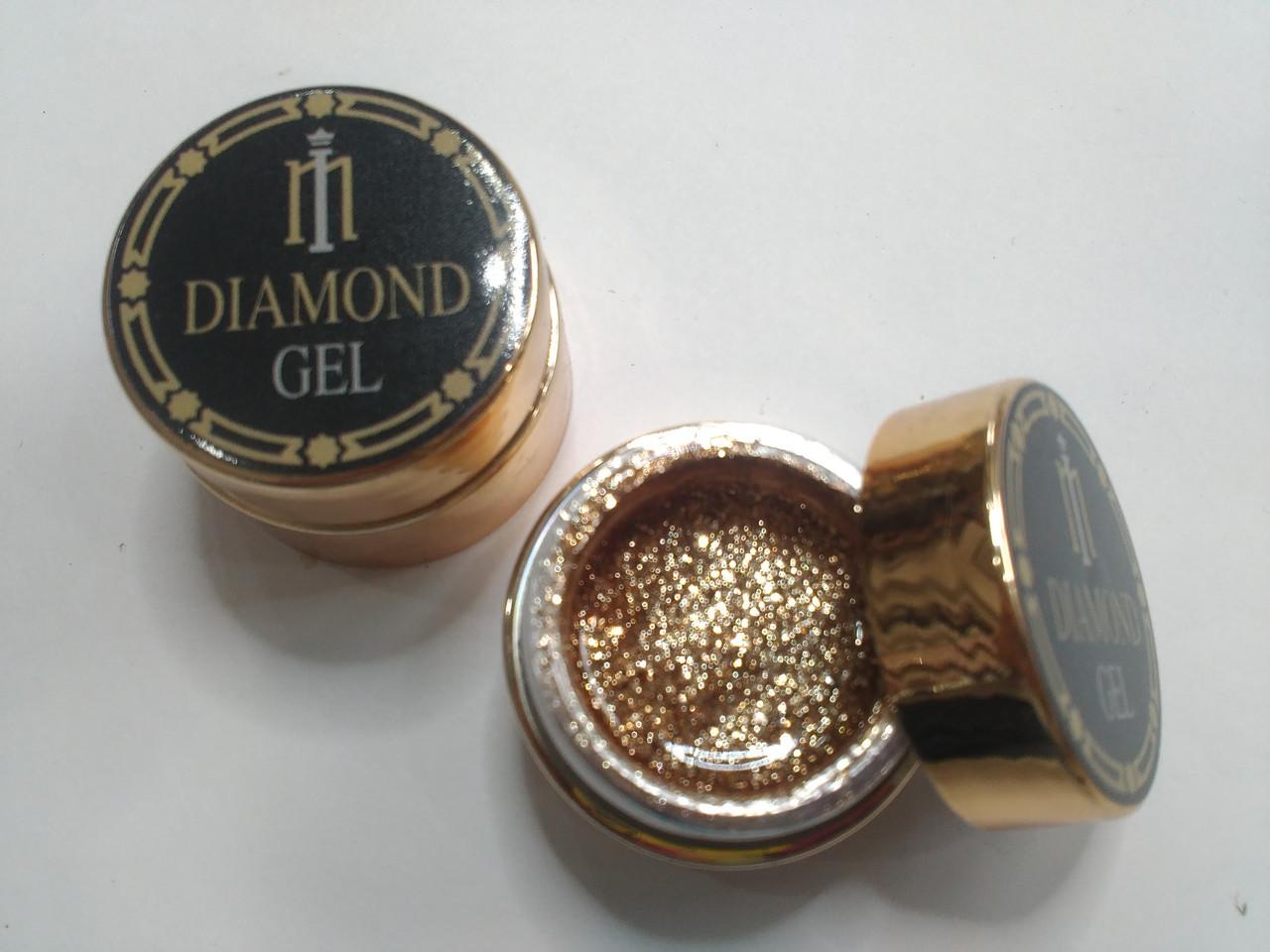 Глиттер-гель DIAMOND, 8G MILANO 017