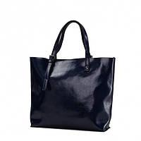 f751bbff6579 Женская кожаная сумка Grays вместительная и удобная синего цвета