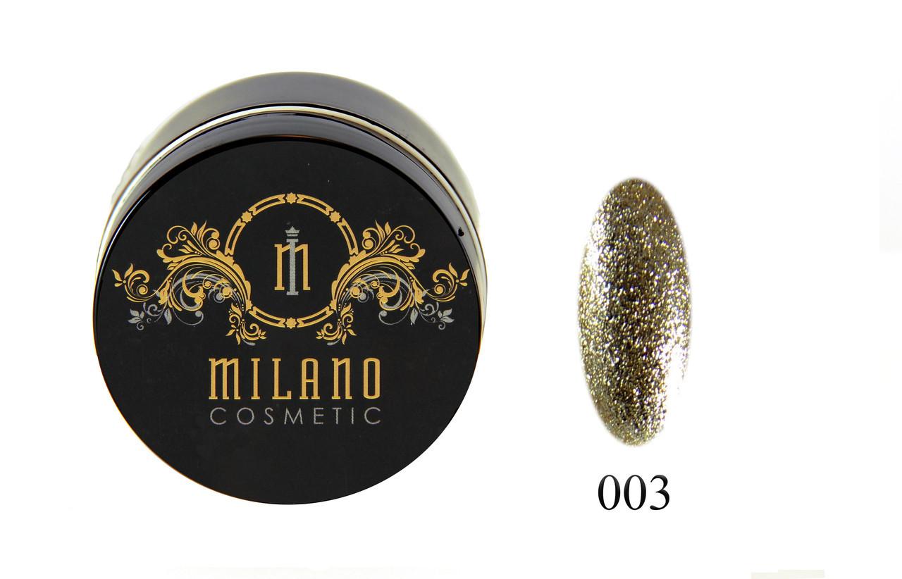 Глиттер-гель DIAMOND, 10G MILANO 003