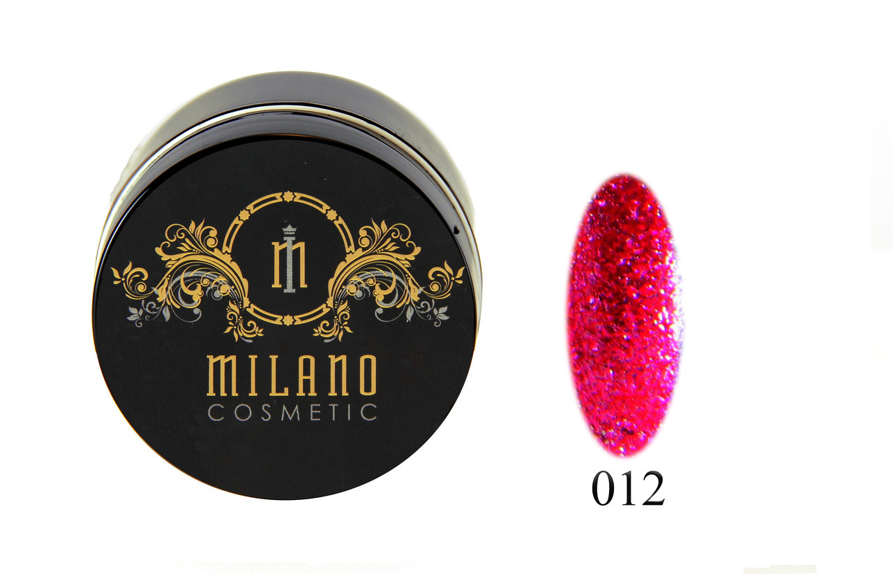 Глиттер-гель DIAMOND, 10G MILANO 012