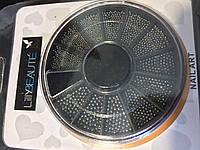 Бульонки в карусельке черные разных размеров, фото 1