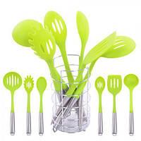 Кухонний набір з підставкою R86841 / H12052 салатовий, 7пріборов, кухонне приладдя, набір кухонного приладдя, набір кухонний, посуд