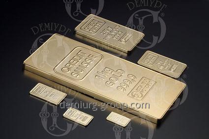 Муляжи банковских слитков золото
