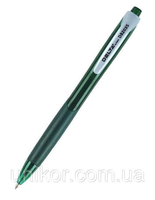 Ручка шариковая автоматическая, DB2035, корпус зеленый, стержень зеленый. Delta by Axent