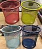 "Подставка для ручек 802-A -стакан ""Сетка цветная"" металл, круглая 8х10см уп12"