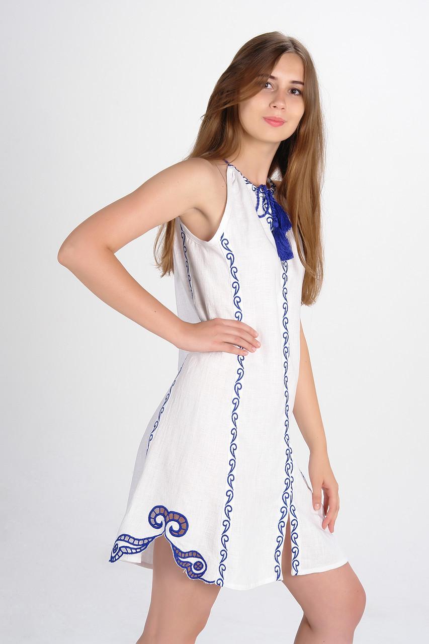 """Сукня вишита """"Мавка міні"""",  біла"""