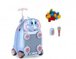 Чемодан караоке на пульте управления StreetGo Kids Elephant