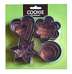 Набор вырубок для печенья Сердце, цветок, круг, звезда из 12 шт