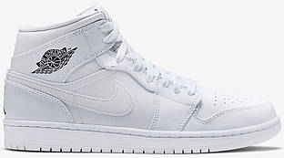 Баскетбольные кроссовки Air Jordan 1 All White