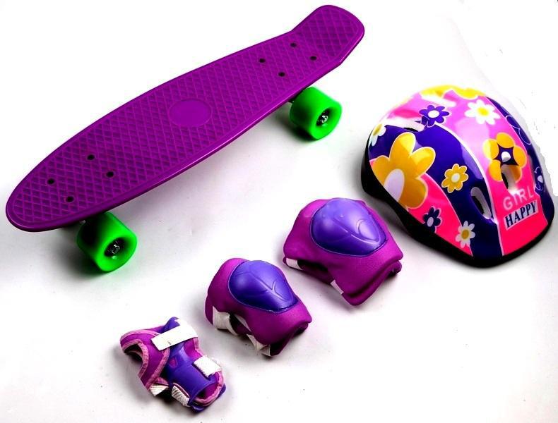 Penny Board Violet+защита+шлем (до 80 кг) Гарантия качества Быстрая доставка