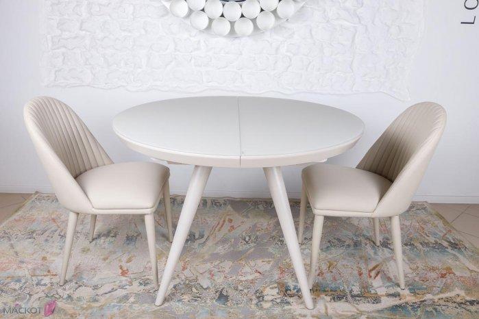 Круглый стол AUSTIN  (Остин) 110/145 капучино от Niсolas