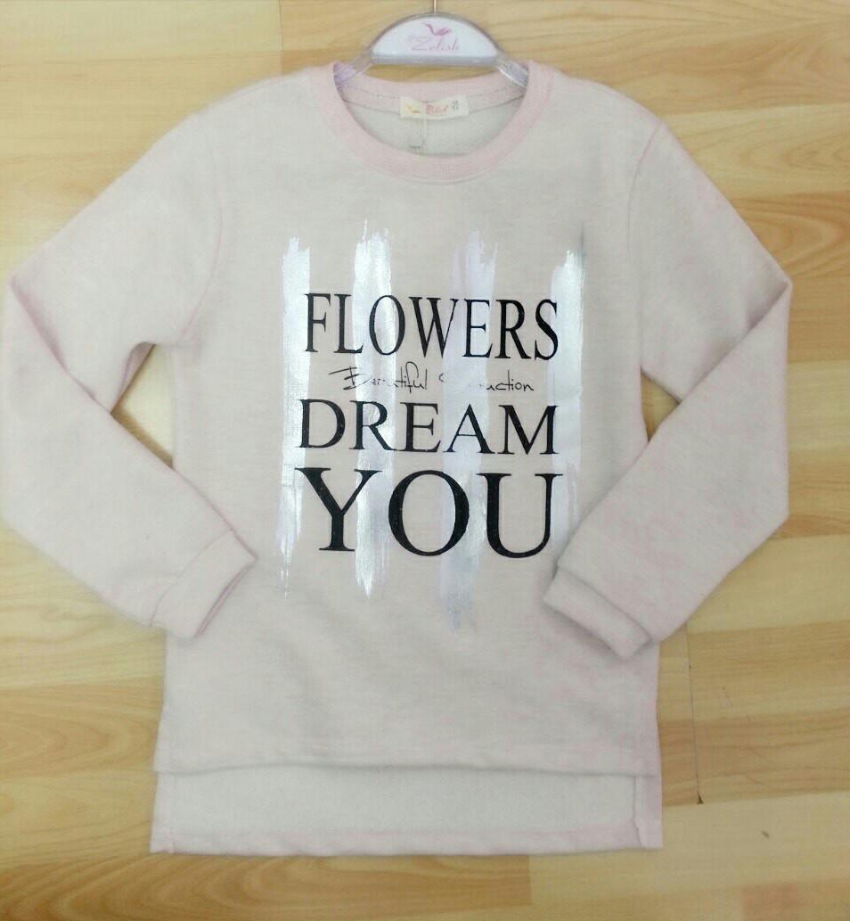 Реглан для девочек 128,140,152,164 роста FLOWERS
