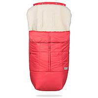 Конверт детский зимний на овчине в коляску и санки Тренд, красный, фото 1