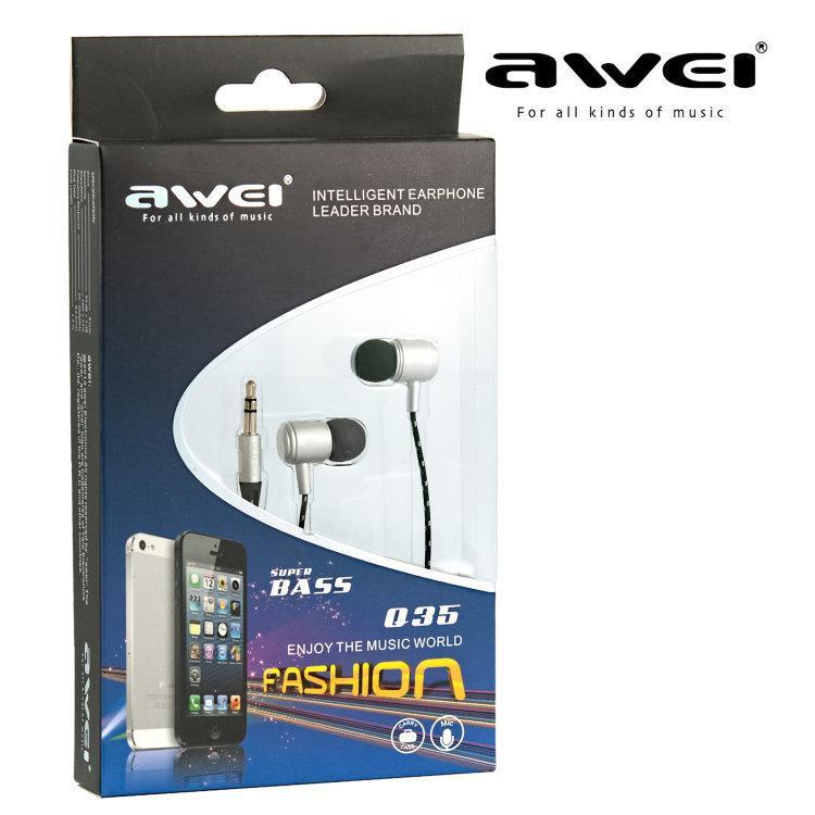 Наушники Awei ES-Q35 Silver