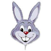"""Воздушный шарик фольгированный """"Кролик серый""""  1  шт."""