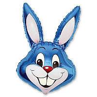 """Воздушный шарик фольгированный """"Кролик синий""""  1  шт."""