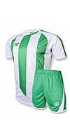 Футбольна форма для команд Europaw 001 біло-зелена, фото 1