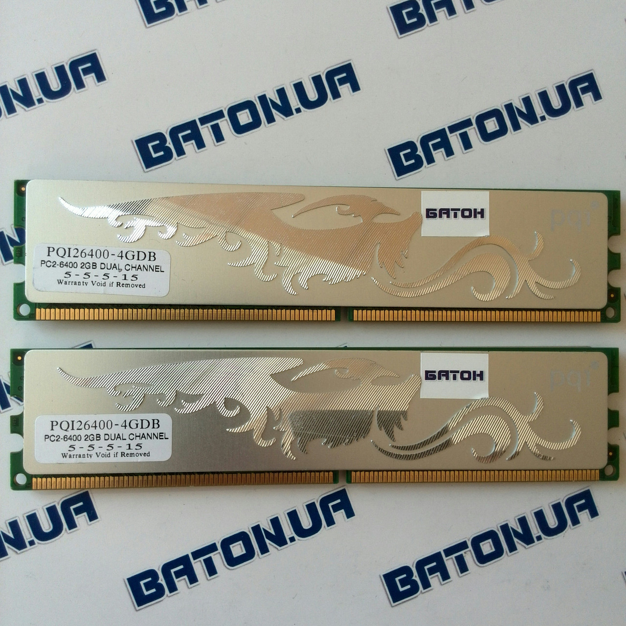 Игровая оперативная память PQI Turbo DDR2 4Gb KIT of 2 800MHz PC2 6400U CL5 (PQI26400-4GDB)