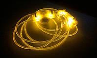 Светящиеся led шнурки желтые 3-го поколения.