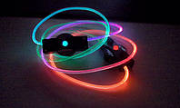 Светящиеся led шнурки многоцветные 3-го поколения.