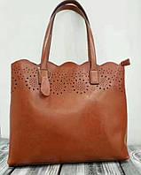 Женская кожаная сумка Grays светло коричневого цвета вместительная и удобная, фото 1