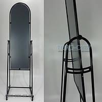 Зеркало Торговое Напольное примерочное 45 х 150 Черное без  коробки Украина, фото 1