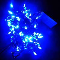 Гирлянда Нить Конус-рис LED 200 синий, чёрный провод (1-19), фото 1
