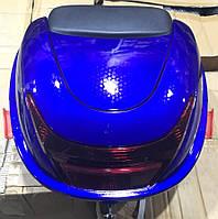 Кофр пластиковый с шлемом синий