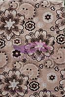 Комплект на диван и кресла (гобелен ковровый) 160х220. Цветок беж, фото 1
