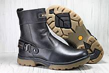 Зимові підліткові високі чоботи натуральна шкіра, натуральне хутро
