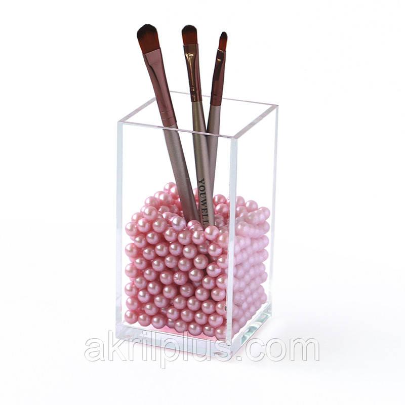 Акриловый органайзер под кисти и карандаши для макияжа