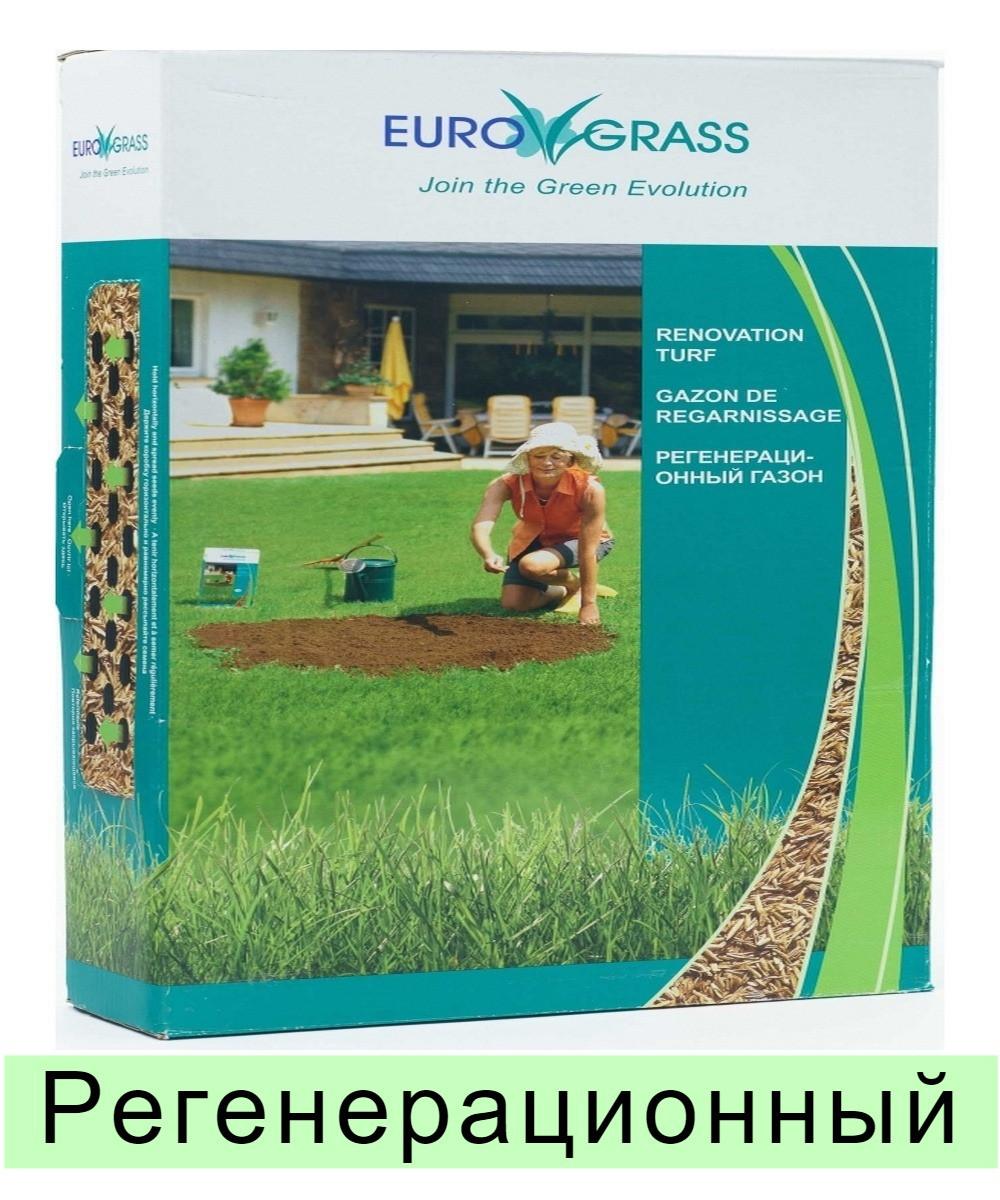 Газонная трава EuroGrass Renovation - 2,5 кг (регенерационный)