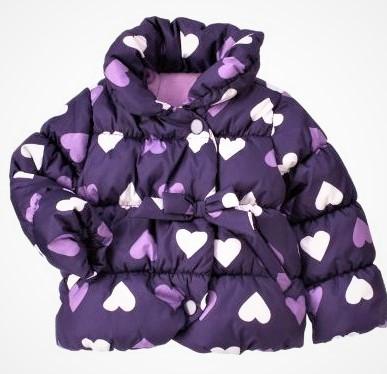 Стильная куртка сердечки утепленная флисом на весну-осень (Размер 4-5Т)  Crazy8 (США)