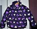 Стильная куртка сердечки утепленная флисом на весну-осень (Размер 4-5Т)  Crazy8 (США), фото 2