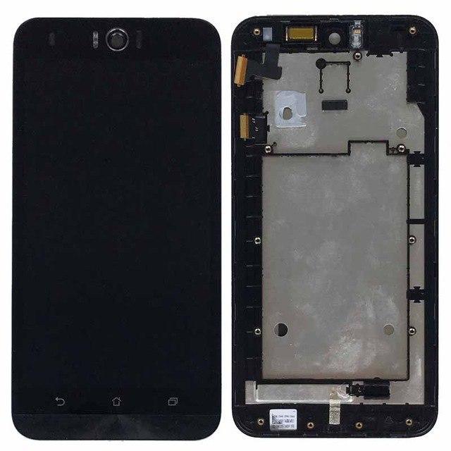 Дисплей для Asus ZenFone Selfie (ZD551KL) с тачскрином и рамкой черный Оригинал