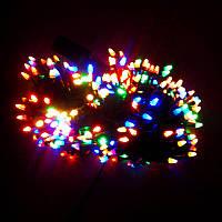Гирлянда Нить Конус-рис LED 500 мульти, чёрный провод (1-22), фото 1