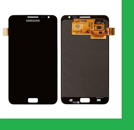 Samsung N7000, i9220 Galaxy Note Дисплей+тачскрин(сенсор) черный, фото 2