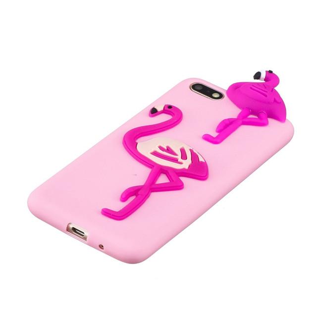 чехол Huawei Honor 7A DUA-L22 накладка 3D с фламинго