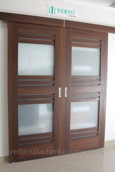 Двери раздвижные Verto Лада 7.2 цвете Дуб карпатский «ЭКО Шпон»