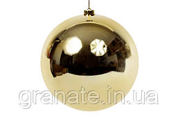 Елочный шар 15 см, цвет: золото глянец